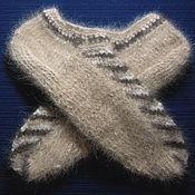 Аксессуары handmade. Livemaster - original item Men`s knitted slippers (size 44). Handmade.
