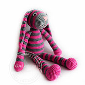 Куклы и игрушки handmade. Livemaster - original item Hare striped) Knitted toy. Handmade.
