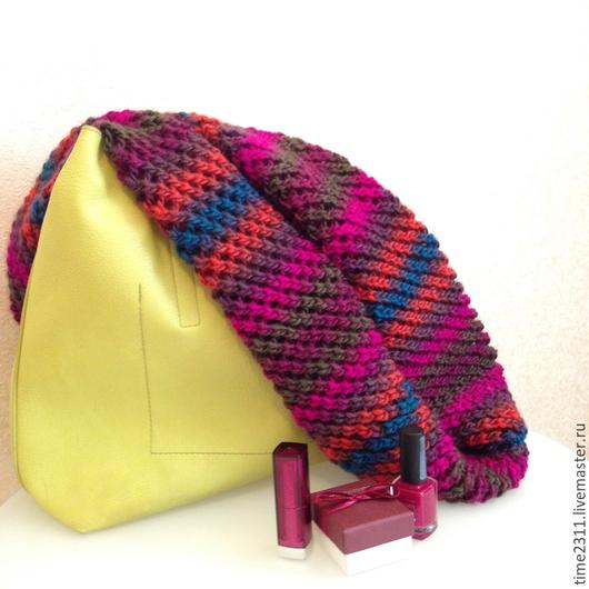 Шали, палантины ручной работы. Ярмарка Мастеров - ручная работа. Купить шарф снуд  Яркий подарок. Handmade. Снуд