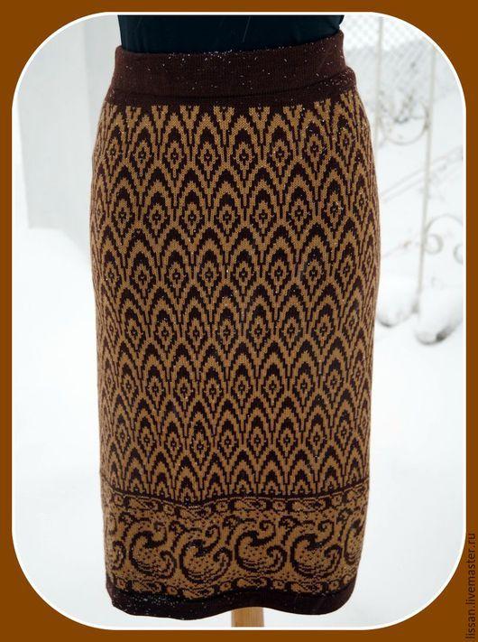 """Юбки ручной работы. Ярмарка Мастеров - ручная работа. Купить Юбка """"Кофейный аромат"""". Handmade. Коричневый, юбка длинная"""