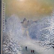 Картины и панно handmade. Livemaster - original item A cold sun. ( Vladimir Tarasov). Handmade.