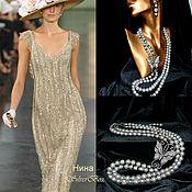 Necklace handmade. Livemaster - original item Grey Pearl Necklace BLACK BUTTERFLY Handmade. Handmade.