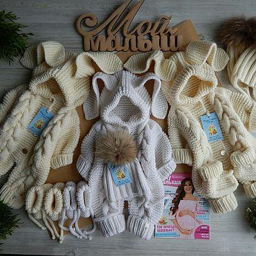 Товары для малышей ручной работы. Ярмарка Мастеров - ручная работа Комплекты одежды: Зайка белый \молочный. Handmade.