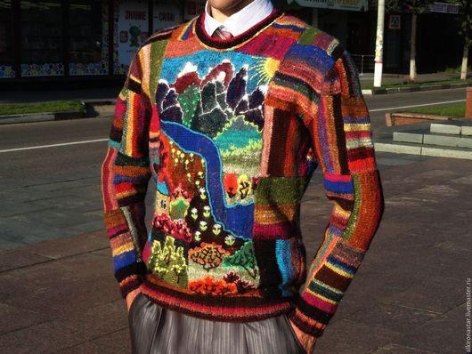 Кофты и свитера ручной работы. Ярмарка Мастеров - ручная работа. Купить Авторский мужской джемпер  Рara mi querido. Handmade.