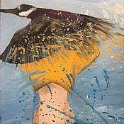 Картины ручной работы. Ярмарка Мастеров - ручная работа Картина акриловыми красками на холсте «Пролетая». Handmade.