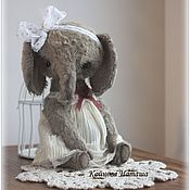 Куклы и игрушки ручной работы. Ярмарка Мастеров - ручная работа Слонечка серая. Handmade.
