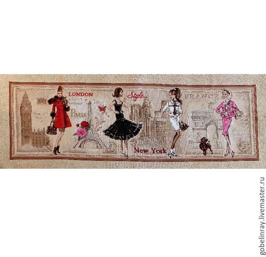 Шитье ручной работы. Ярмарка Мастеров - ручная работа. Купить Девушки мира Лондон: гобеленовая заготовка без оверлока, 35-90 см. Handmade.