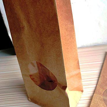 Материалы для творчества ручной работы. Ярмарка Мастеров - ручная работа Крафт пакет с окошком. Крафт упаковка.. Handmade.