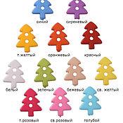 Пуговицы ручной работы. Ярмарка Мастеров - ручная работа Пуговица елочка 12 цветов. Handmade.