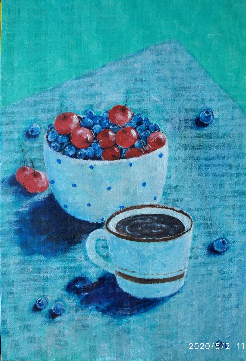 Oil painting ' Berries', Pictures, Moscow,  Фото №1