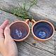 Кружки и чашки ручной работы. Ярмарка Мастеров - ручная работа. Купить Чашки-малышки. Handmade. Синий, гончарные изделия