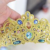 Украшения handmade. Livemaster - original item Soutache gold diadem. Handmade.
