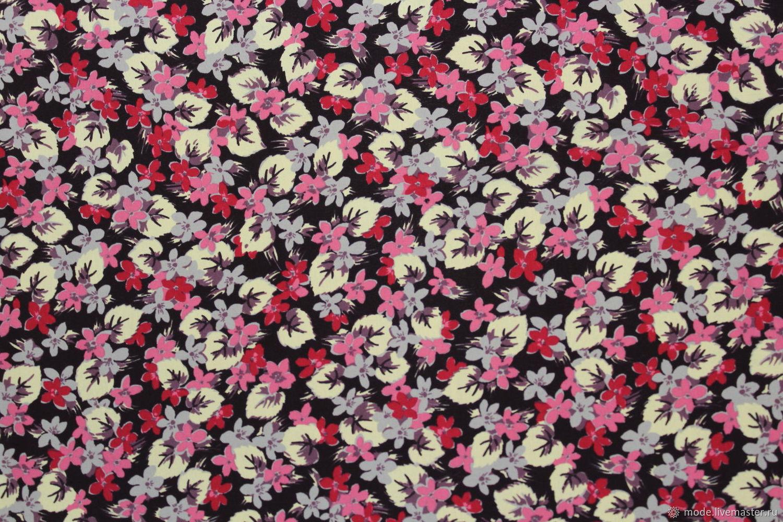 Шелк мелкий цветочек. Арт. 88С24-2, Ткани, Искитим,  Фото №1
