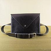 Сумки и аксессуары handmade. Livemaster - original item Bag on the belt frizione nero. Handmade.