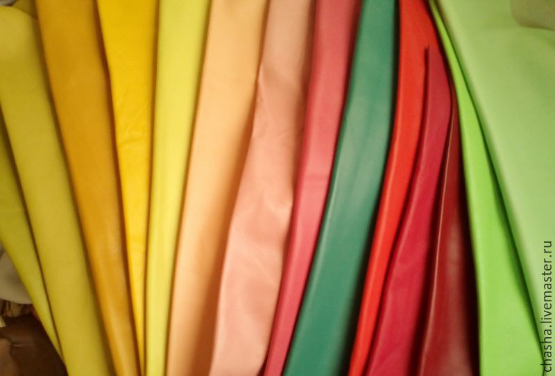 Цветная кожа италии