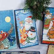 Сувениры и подарки handmade. Livemaster - original item Christmas cards wooden souvenirs. Handmade.