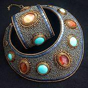 Украшения handmade. Livemaster - original item Set of embroidered jewelry,