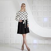 Одежда ручной работы. Ярмарка Мастеров - ручная работа Черно-белое платье на каждый день. Handmade.