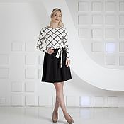 Одежда handmade. Livemaster - original item Black and white dress for every day. Handmade.