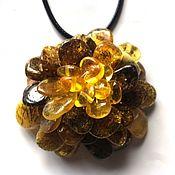Украшения handmade. Livemaster - original item Amber Flower pendant made of natural stone the girl the woman. Handmade.