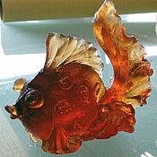 Для дома и интерьера ручной работы. Ярмарка Мастеров - ручная работа Рыбка золотая из хрусталя. Handmade.
