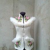 Одежда ручной работы. Ярмарка Мастеров - ручная работа Жилет валяный  Лебедь  2. Handmade.