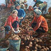 Картины и панно handmade. Livemaster - original item Potatoes. Handmade.