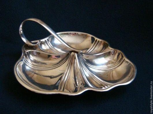Винтажная посуда. Ярмарка Мастеров - ручная работа. Купить Менажница с ручкой - Англия, сер ХХ в Sheffild. Handmade. Медь