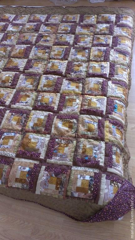 """Текстиль, ковры ручной работы. Ярмарка Мастеров - ручная работа. Купить Лоскутное одеяло ручной работы """"Осень"""". Handmade."""