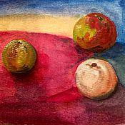 Картины и панно ручной работы. Ярмарка Мастеров - ручная работа Яблоки на Закате. Handmade.