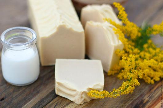 Мыло ручной работы. Ярмарка Мастеров - ручная работа. Купить Мыло с медом и молоком. Handmade. Желтый, молочное мыло