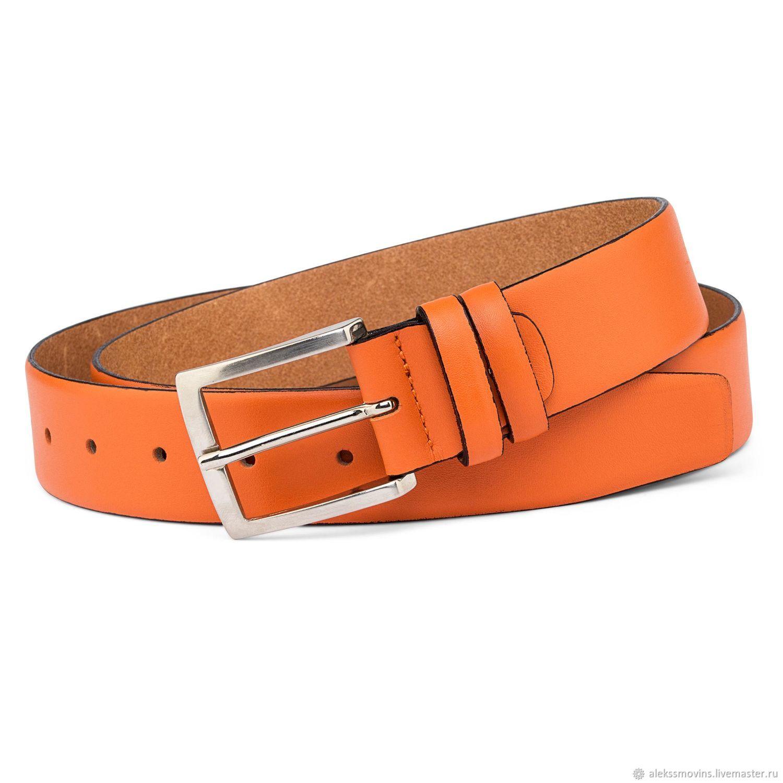 Оранжевый кожаный женский ремень, Ремни, Рига, Фото №1
