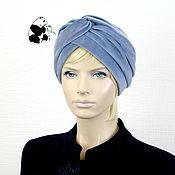 Аксессуары handmade. Livemaster - original item Elegant women`s turban hat. Lazur.. Handmade.