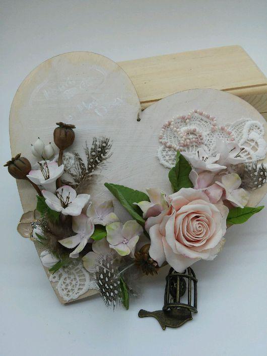Подарки для влюбленных ручной работы. Ярмарка Мастеров - ручная работа. Купить Подвеска- валентинка для интерьера, ручная работа, полимерная глина. Handmade.