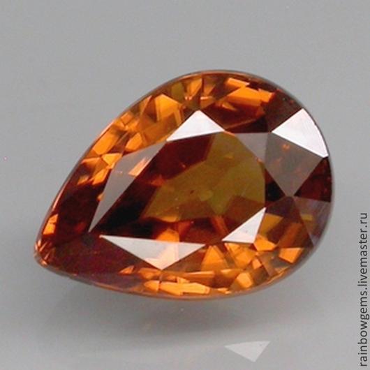 Циркон натуральный. Цвет Top Imperial Orange. 2,27 карат