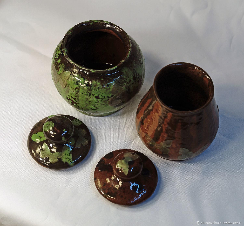Миниатюрные модели ручной работы. Ярмарка Мастеров - ручная работа. Купить Керамические горшочки-сахарницы 'Бабочки'. Handmade. Бабочка, бабочки