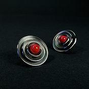 Украшения handmade. Livemaster - original item Earrings with coral. Handmade.