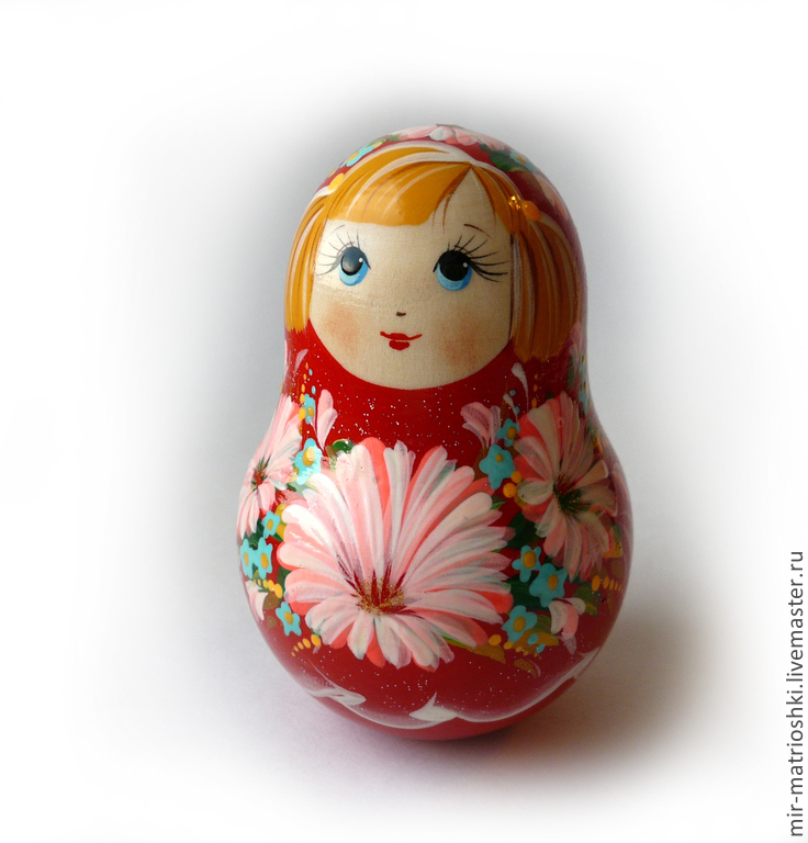 Tumbler 'Girl with pigtails' (with bells), Dolls1, Sarov,  Фото №1