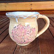 Посуда ручной работы. Ярмарка Мастеров - ручная работа Кружка Гортензия садовая. Handmade.