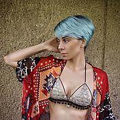 Одежда ручной работы. Ярмарка Мастеров - ручная работа Hand made Трайбл Gypsy Хиппи Бохо Бралет с позитивным посланием. Handmade.