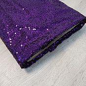 Ткани ручной работы. Ярмарка Мастеров - ручная работа Сетка с фиолетовыми пайетками. Handmade.
