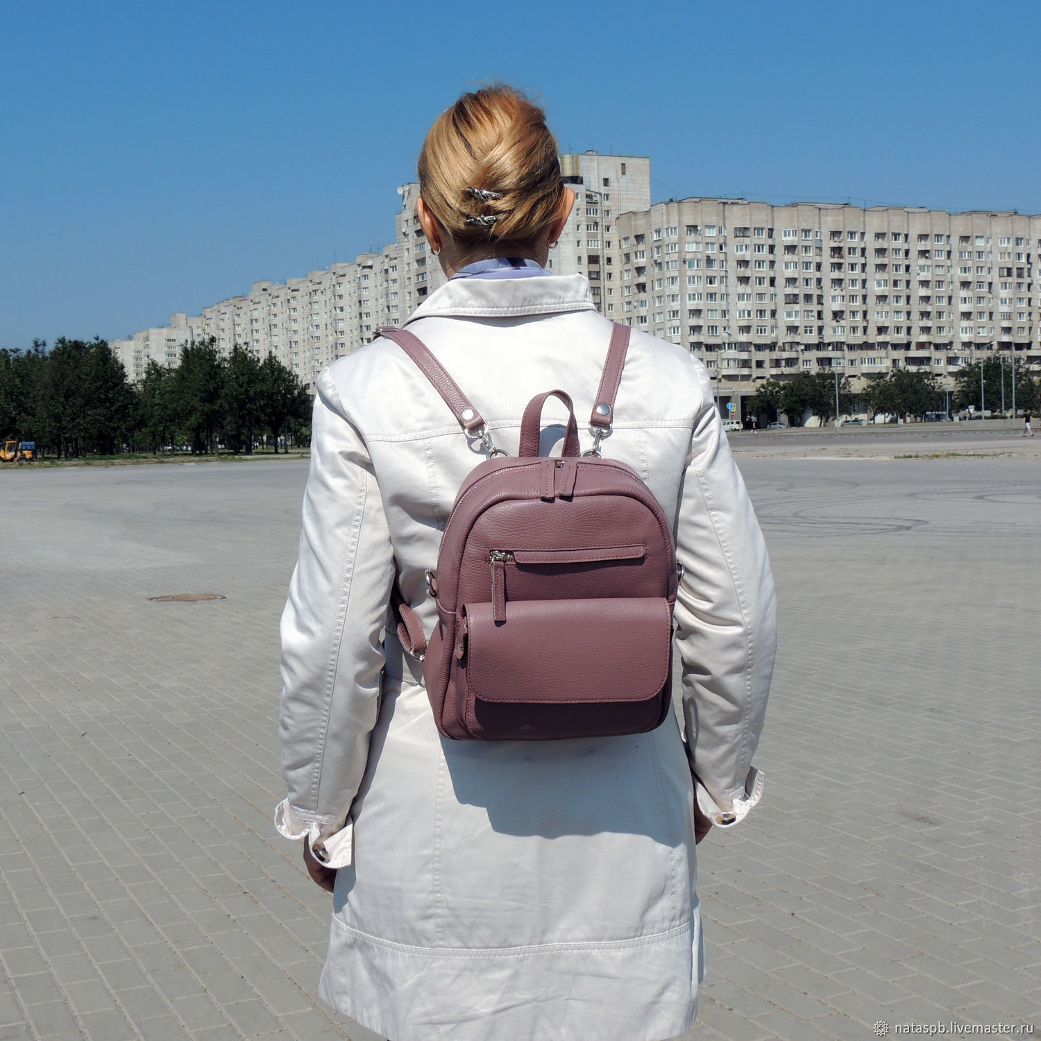 Backpack leather ladies purple Tristan. Natalia Kalinovskaya. Online  shopping on My ... be964a26143c4