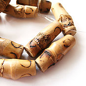 Материалы для творчества handmade. Livemaster - original item Beads Bamboo tube 9h26mm. Handmade.