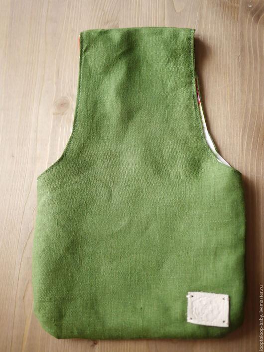 Органайзеры для рукоделия ручной работы. Ярмарка Мастеров - ручная работа. Купить Сумка вязальщицы (зеленая с розами на зеленом). Handmade. для вязальщицы