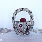 Для дома и интерьера handmade. Livemaster - original item Box-basket made of linen. Gift, candy box, for small things. Handmade.