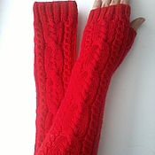 Аксессуары handmade. Livemaster - original item Mitts red 159. Handmade.