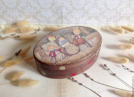 Шкатулки ручной работы. Ярмарка Мастеров - ручная работа. Купить Веселая компания - овальная шкатулочка. Handmade. Foxwood tales