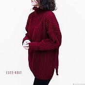 Одежда handmade. Livemaster - original item Women knitted sweater red. Handmade.