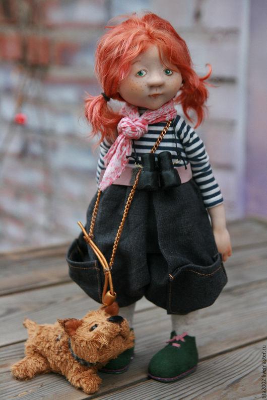 Коллекционные куклы ручной работы. Ярмарка Мастеров - ручная работа. Купить Внучка капитана Флинта. Handmade. Рыжий, ручная работа