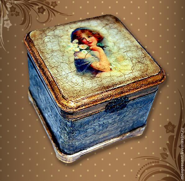 Trinket Boxes handmade. Livemaster - handmade. Buy box 'tenderness'.Gift, jewelry box, gift for girls